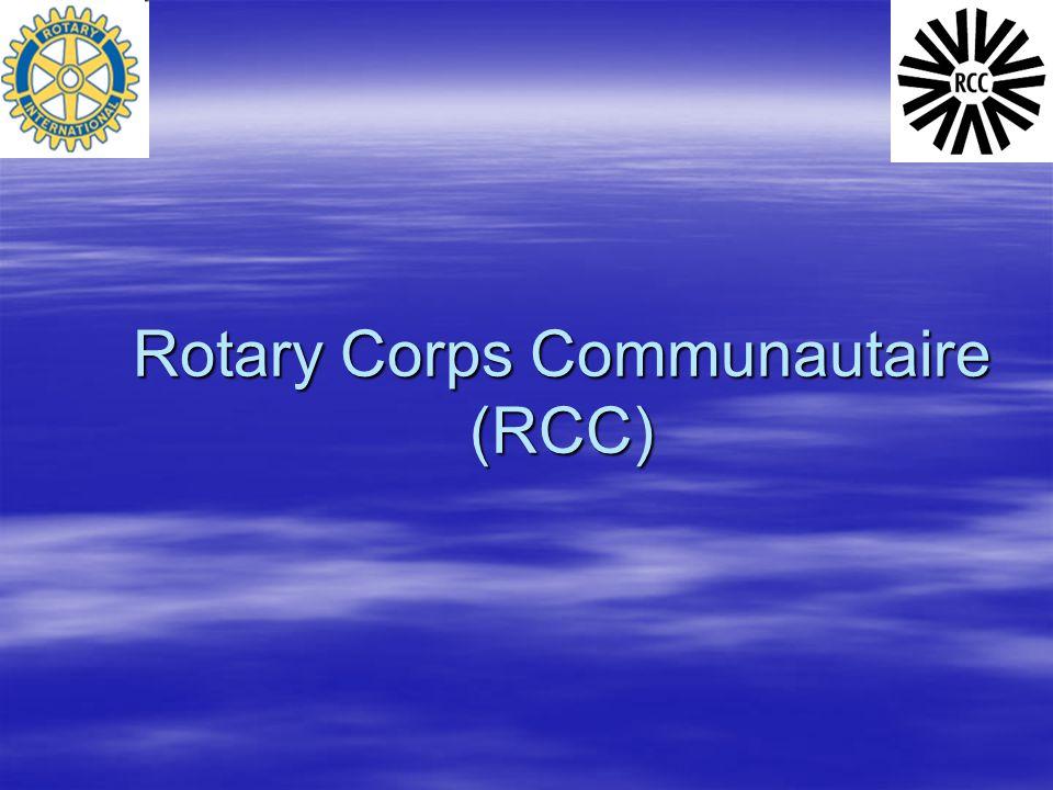 Rotary Corps Communautaire (RCC)