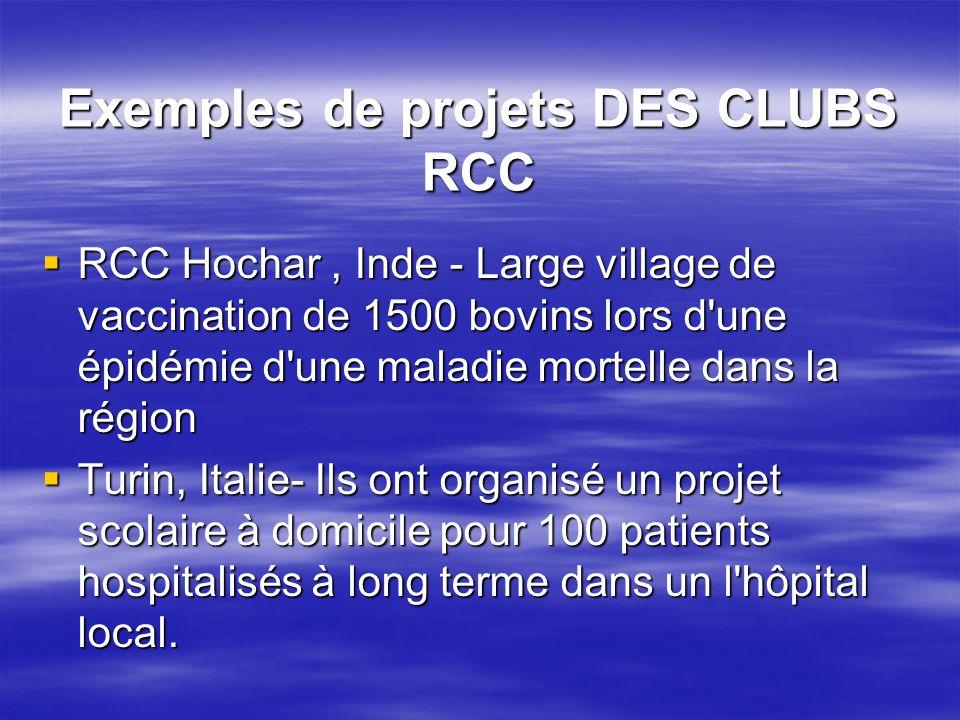 Exemples de projets DES CLUBS RCC  RCC Hochar, Inde - Large village de vaccination de 1500 bovins lors d'une épidémie d'une maladie mortelle dans la