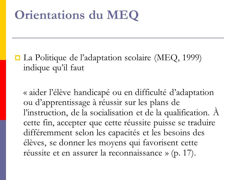 SSelon le MEQ (2003) « le cours d'insertion sociale se rapporte à l'acquisition de connaissances et au développement d'habiletés et de comportements essentiels à l'exercice d'une vie autonome et active.