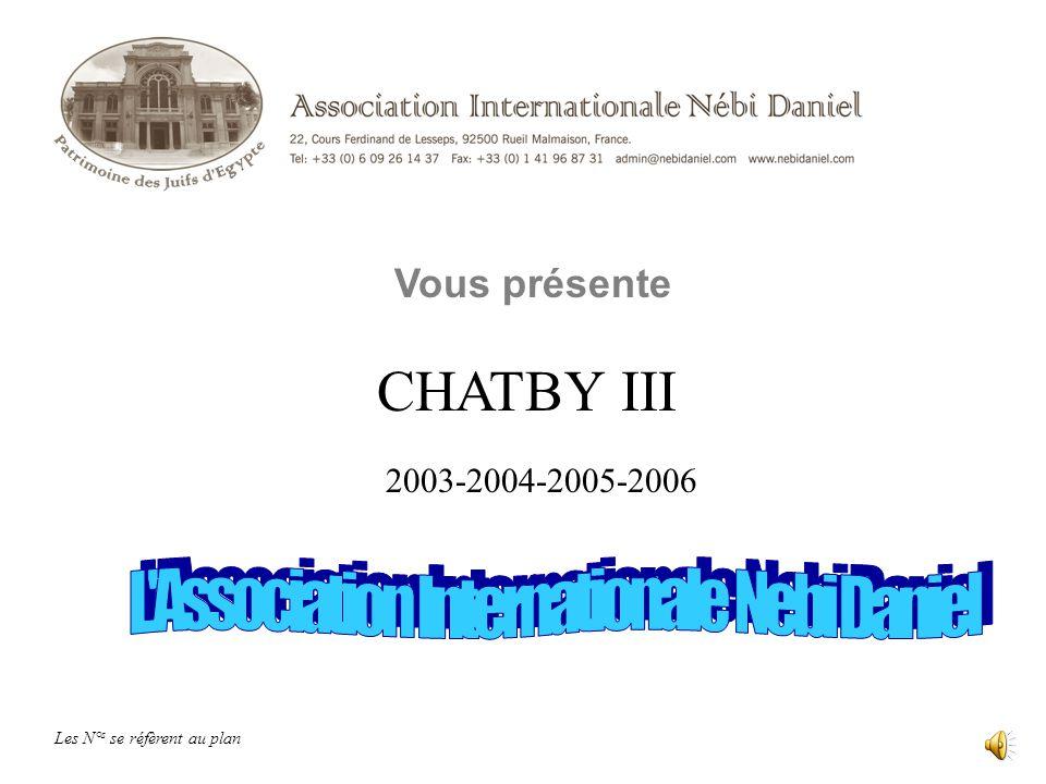 CHATBY III Vous présente Les N° s se réfèrent au plan 2003-2004-2005-2006