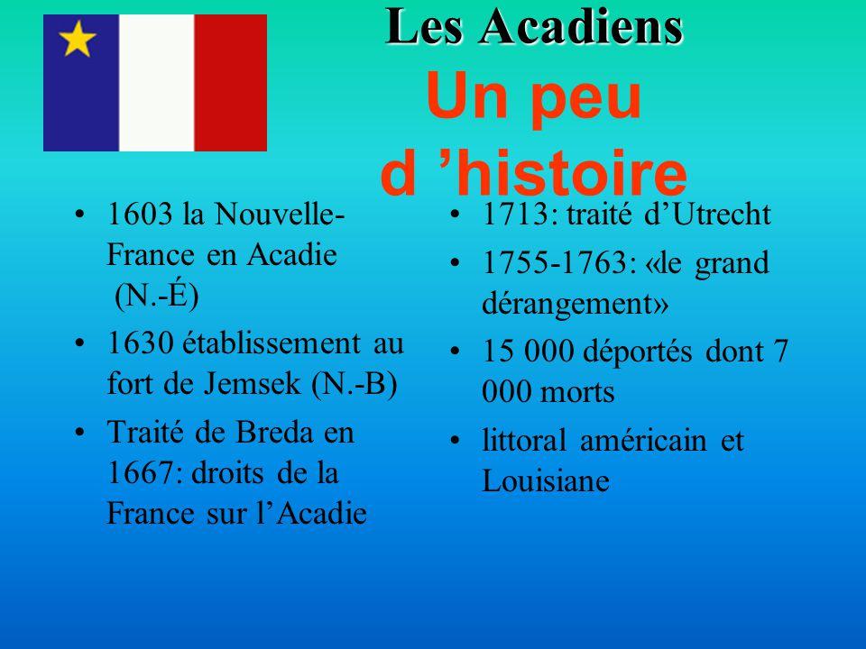 Le retour des Acadiens Dès 1766 bon nombre des exilés reviennent L 'acte de l 'Amérique du Nord ne garantissait rien Nouveau-Brunswick, Nouvelle-Écosse et l 'Île du Prince-Édouard N.-B bilingue