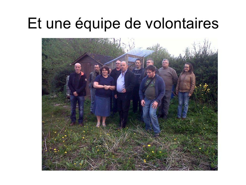 Et une équipe de volontaires