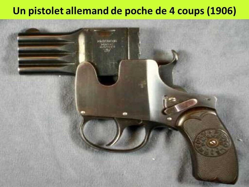 Un pistolet allemand de poche de 4 coups (1906)