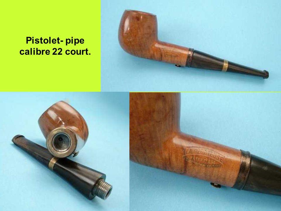 Pistolet- pipe calibre 22 court.
