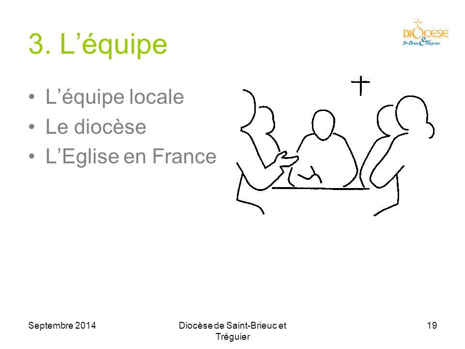 Septembre 2014Diocèse de Saint-Brieuc et Tréguier 19 3.