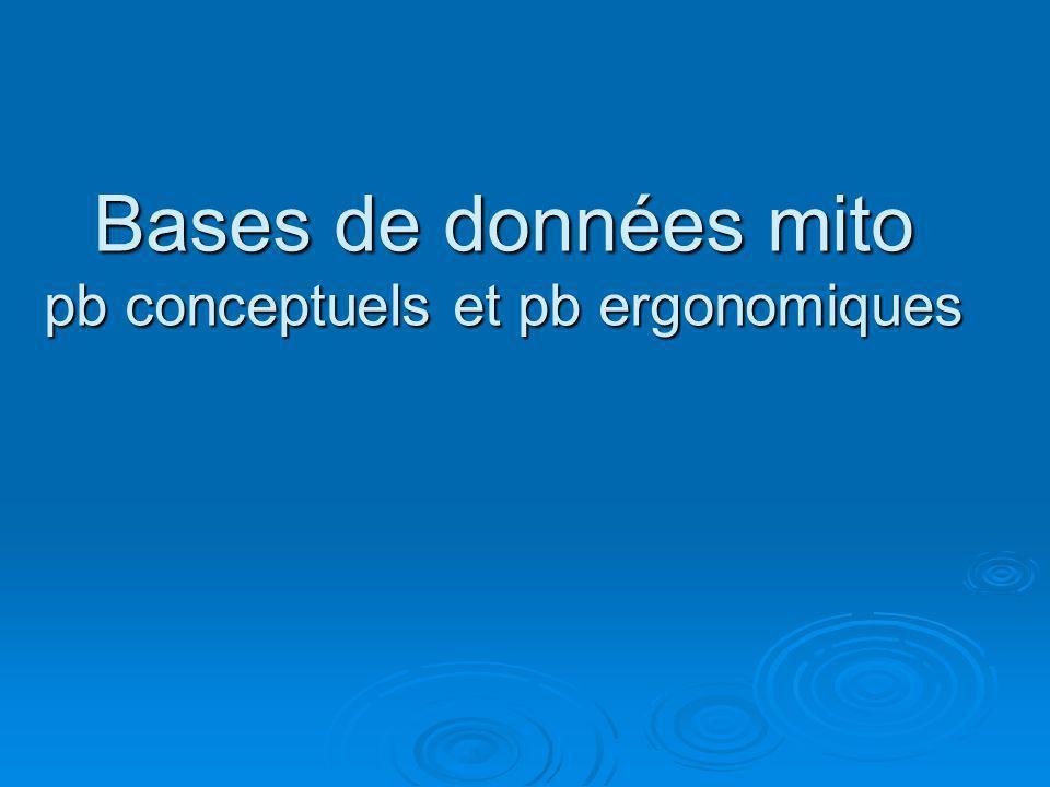 BDD existantes: gdes caractéristiques fusion ou interopérabilité.