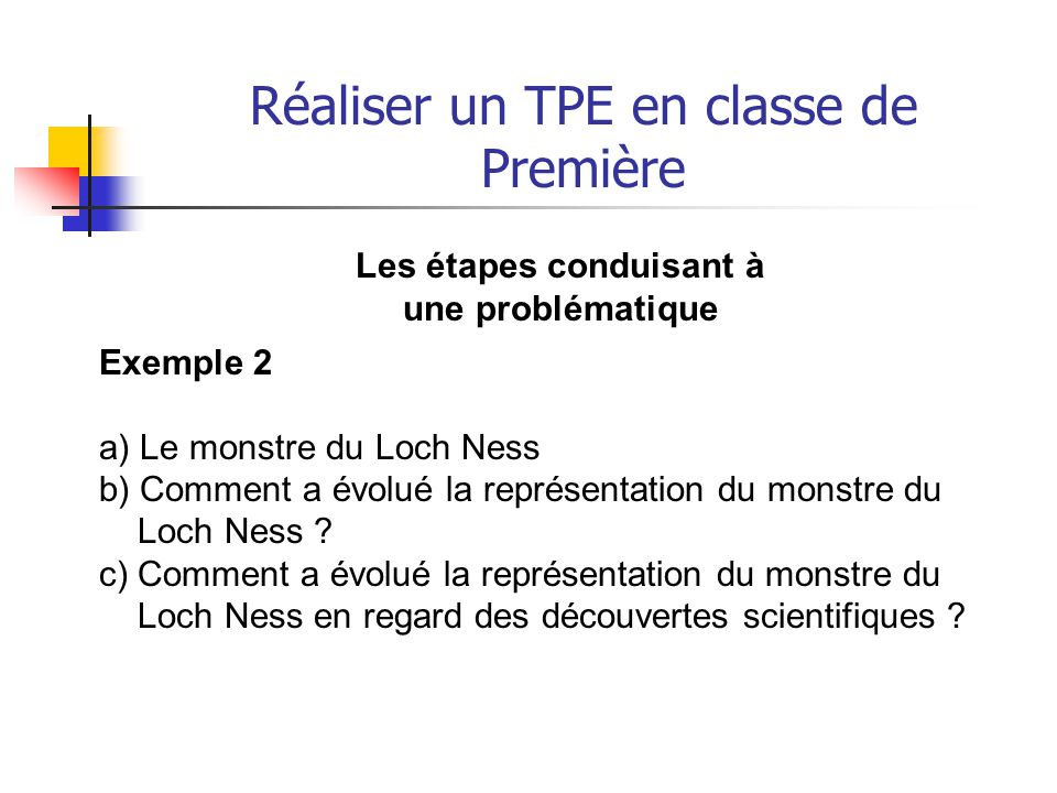 Réaliser un TPE en classe de Première Exemple 3 a) L'œuvre du Caravage b) Le Caravage: sa vie, son oeuvre c) Comment la vie du Caravage infuse-t-elle son œuvre ?