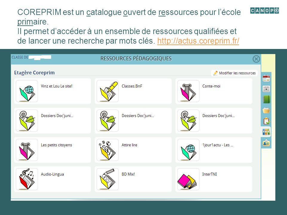 COREPRIM est un catalogue ouvert de ressources pour l'école primaire.
