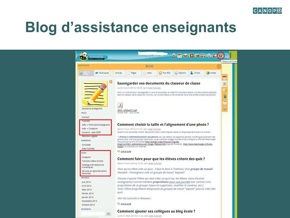 Blog d'assistance enseignants