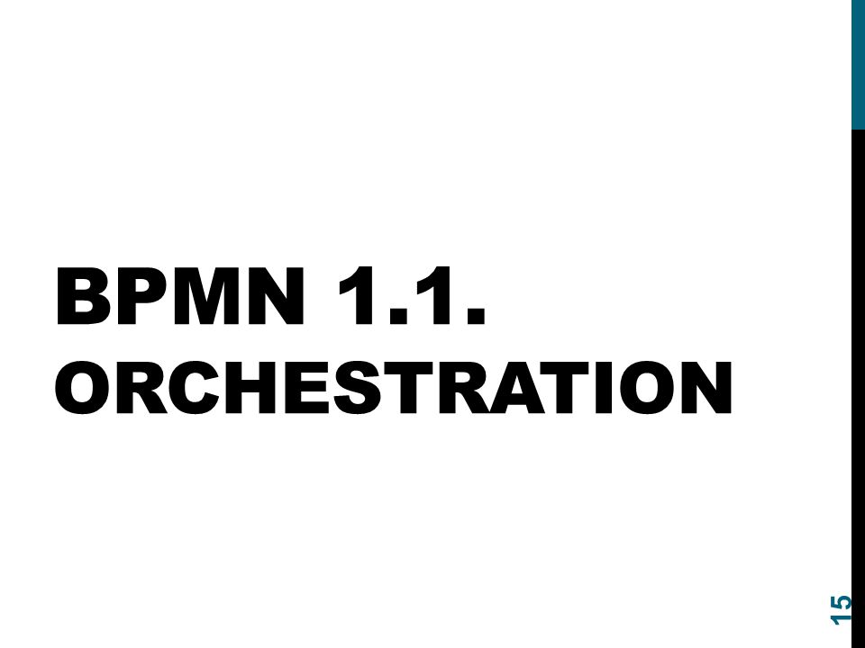 BPMN 1.1. ORCHESTRATION 15