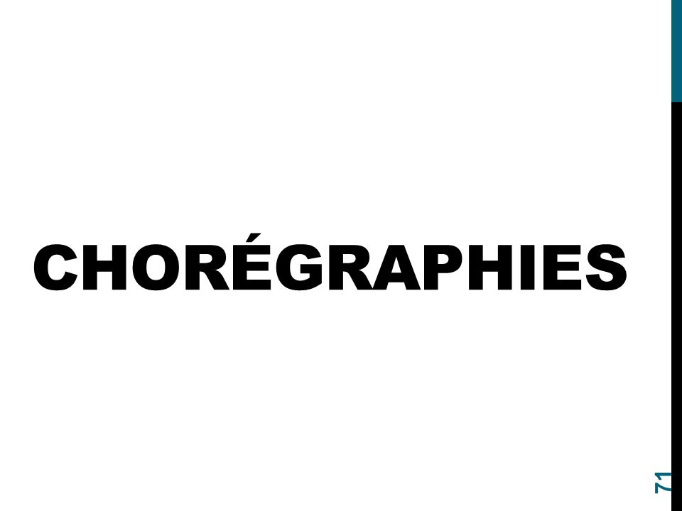 CHORÉGRAPHIES 71