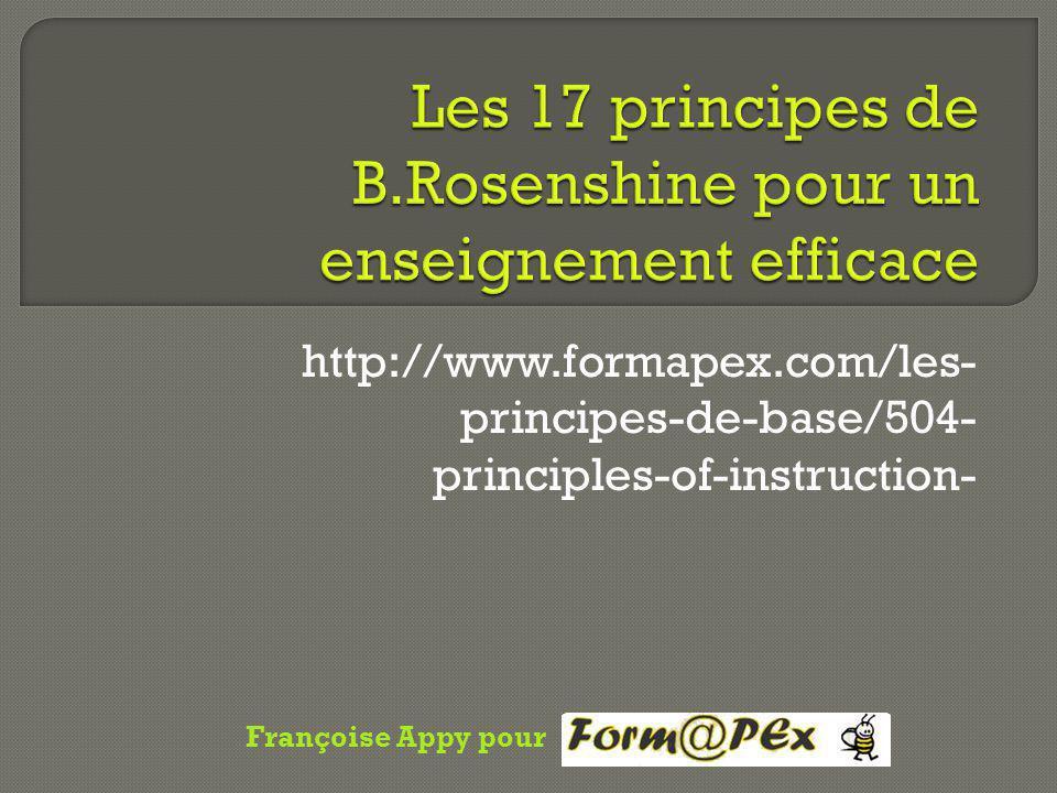 http://www.formapex.com/les- principes-de-base/504- principles-of-instruction- Françoise Appy pour
