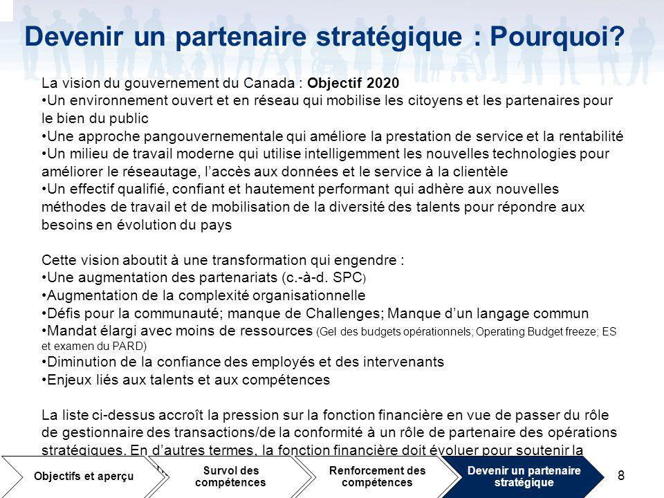 8 Devenir un partenaire stratégique : Pourquoi.