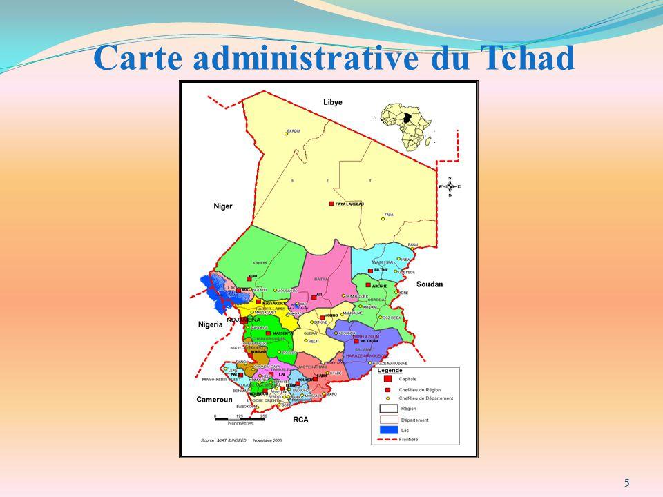 Carte administrative du Tchad 5