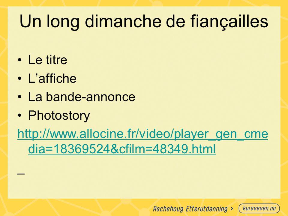 Un long dimanche de fiançailles Le titre L'affiche La bande-annonce Photostory http://www.allocine.fr/video/player_gen_cme dia=18369524&cfilm=48349.ht