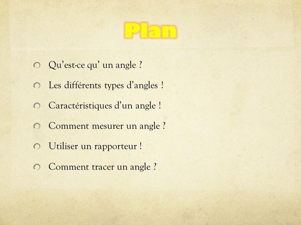 Qu'est-ce qu' un angle ? Les différents types d'angles ! Caractéristiques d'un angle ! Comment mesurer un angle ? Utiliser un rapporteur ! Comment tra