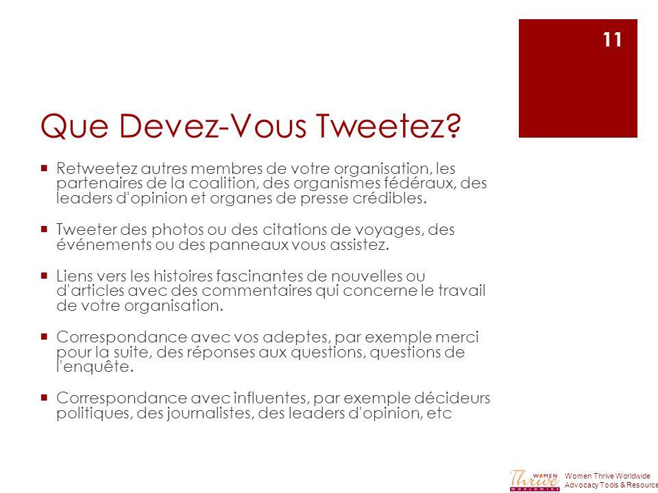 Que Devez-Vous Tweetez.