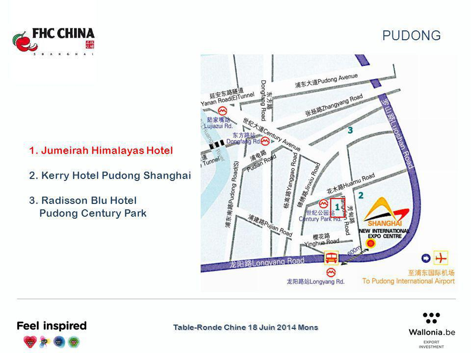 Table-Ronde Chine 18 Juin 2014 Mons Renaissance : http://www.marriott.com/hotels/travel/sharn-renaissance-shanghai-pudong-hotel/http://www.marriott.com/hotels/travel/sharn-renaissance-shanghai-pudong-hotel/ Sheraton : http://www.starwoodhotels.com/sheraton/property/overview/http://www.starwoodhotels.com/sheraton/property/overview/ Hilton : http://www.jorientalhotel.com/jj/en.htmlhttp://www.jorientalhotel.com/jj/en.html Saint Regis :http://www.st-regishotel.comhttp://www.st-regishotel.com Intercontinental : http://www.ihg.com/intercontinental/hotels/gb/en/shanghai/shgha/hoteldetailhttp://www.ihg.com/intercontinental/hotels/gb/en/shanghai/shgha/hoteldetail Four Seasons : http://www.fourseasons.com/pudong/http://www.fourseasons.com/pudong/ Grand Hyatt : http://www.shanghai.grand.hyatt.com/en/hotel/home.html http://www.shanghai.grand.hyatt.com/en/hotel/home.html Park Hyatt : http://shanghai.park.hyatt.com/en/hotel/home.html http://shanghai.park.hyatt.com/en/hotel/home.html Shangri-la : http://www.shangri-la.com/shanghai/pudongshangrila/http://www.shangri-la.com/shanghai/pudongshangrila/ Riz Carlton : http://www.ritzcarlton.com/en/Properties/ShanghaiPudong/Default.htmhttp://www.ritzcarlton.com/en/Properties/ShanghaiPudong/Default.htm Novotel : http://www.novotel.com/gb/hotel-3019-novotel-shanghai-atlantis/index.shtmlhttp://www.novotel.com/gb/hotel-3019-novotel-shanghai-atlantis/index.shtml Autres hôtels internationaux à Pudong