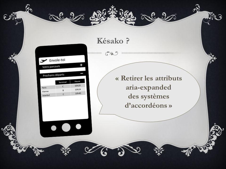 Késako « Retirer les attributs aria-expanded des systèmes d'accordéons »