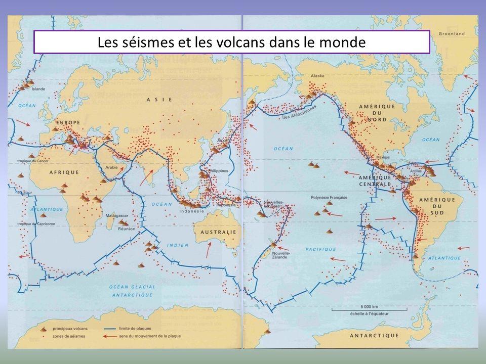 Les séismes et les volcans dans le monde