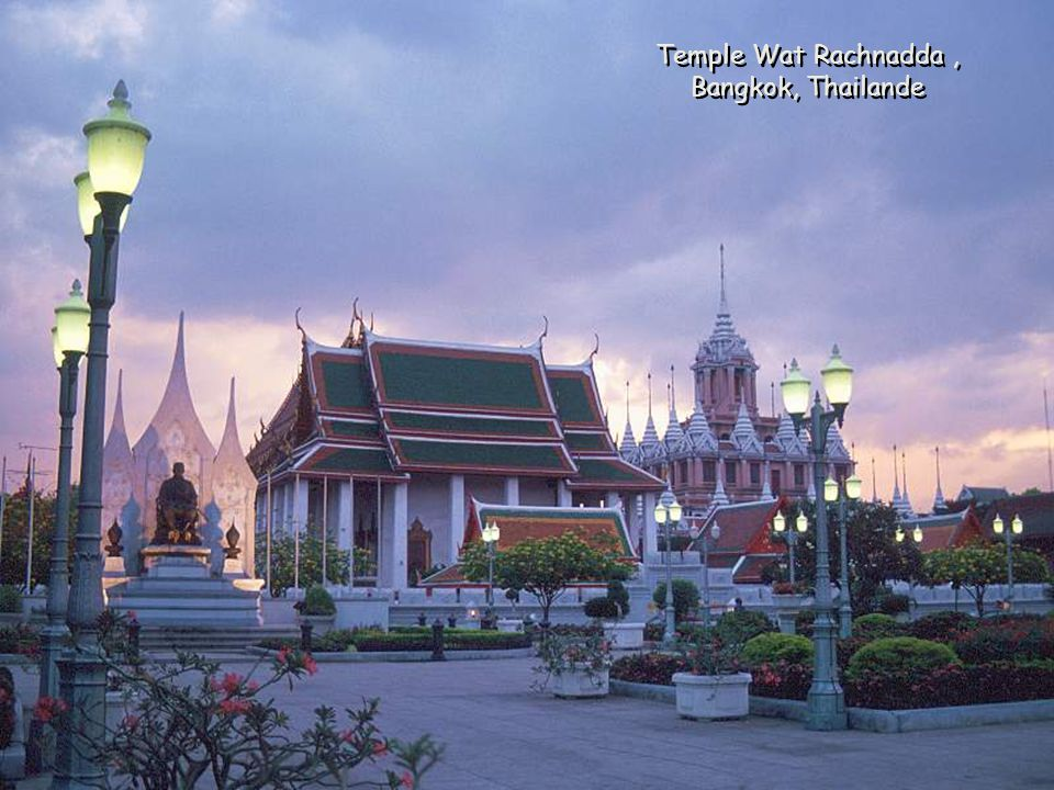 Temple Wat Rachnadda, Bangkok, Thailande Temple Wat Rachnadda, Bangkok, Thailande