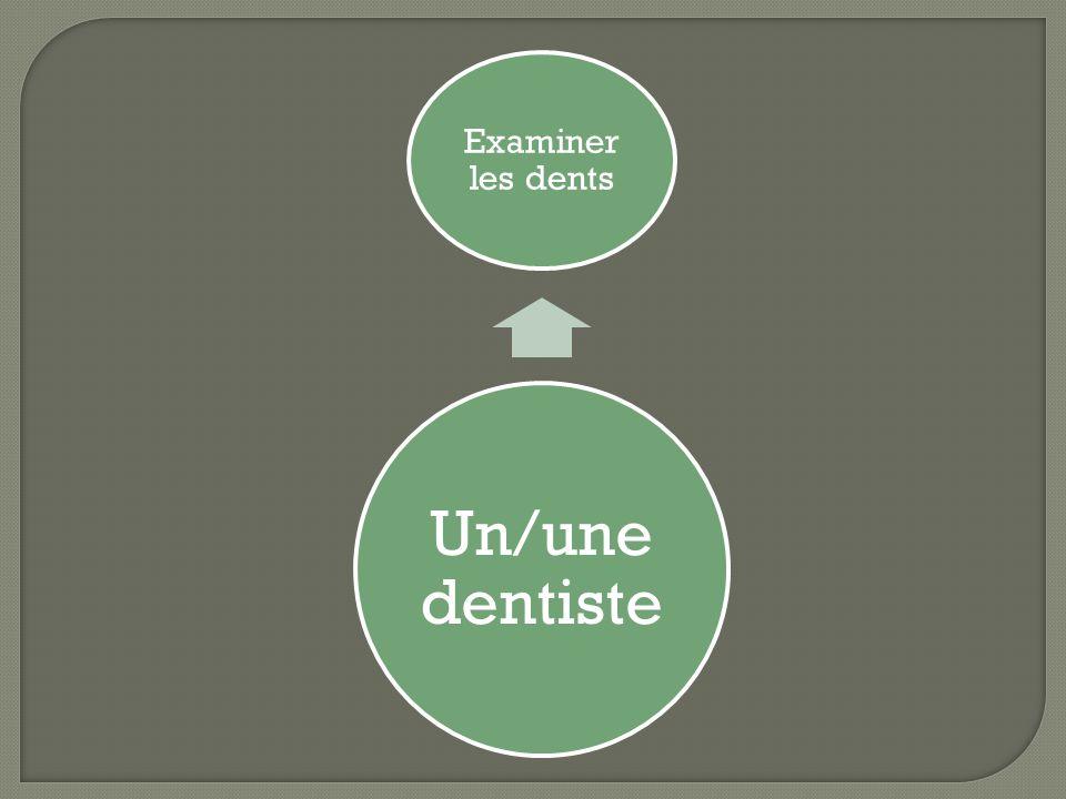 Un/une dentiste Examiner les dents