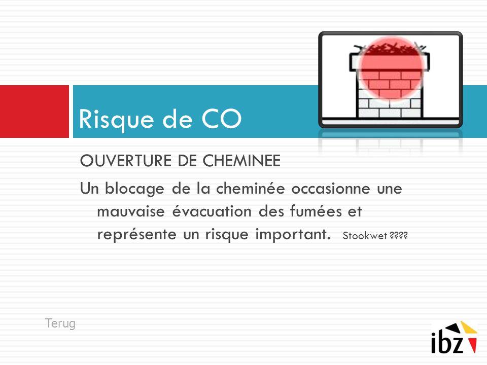 OUVERTURE DE CHEMINEE Un blocage de la cheminée occasionne une mauvaise évacuation des fumées et représente un risque important.
