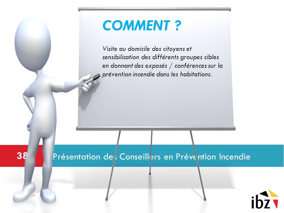 Présentation des Conseillers en Prévention Incendie 38 COMMENT .