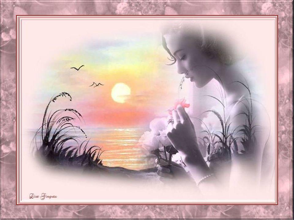 Des franges de soleil s'envolent au vent Et brillent sur la douceur du temps; Quand sur la vie, ton regard se pose, Alors, sois toujours un parfum de