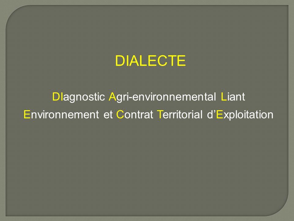 DIALECTE DIagnostic Agri-environnemental Liant Environnement et Contrat Territorial d'Exploitation