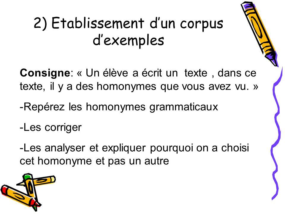 3) Observation guidée du corpus Reformulation de la consigne par les enfants Indication: « Commencez à travailler en groupe, car le texte est difficile.