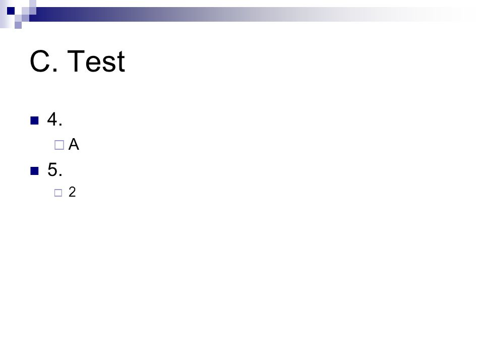 C. Test 4. AA 5. 22