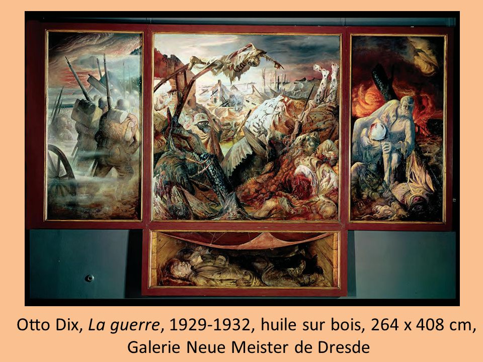 Otto Dix, La guerre, 1929-1932, huile sur bois, 264 x 408 cm, Galerie Neue Meister de Dresde