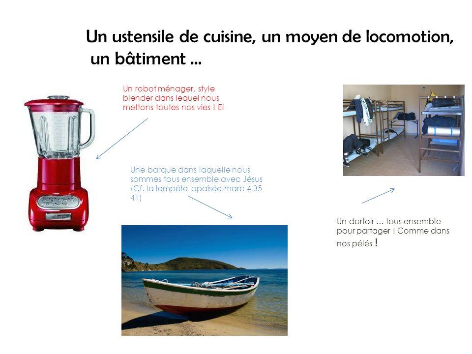 Un ustensile de cuisine, un moyen de locomotion, un bâtiment … Un robot ménager, style blender dans lequel nous mettons toutes nos vies .