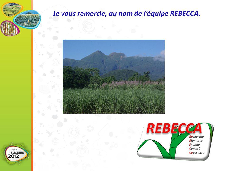 Je vous remercie, au nom de l'équipe REBECCA.