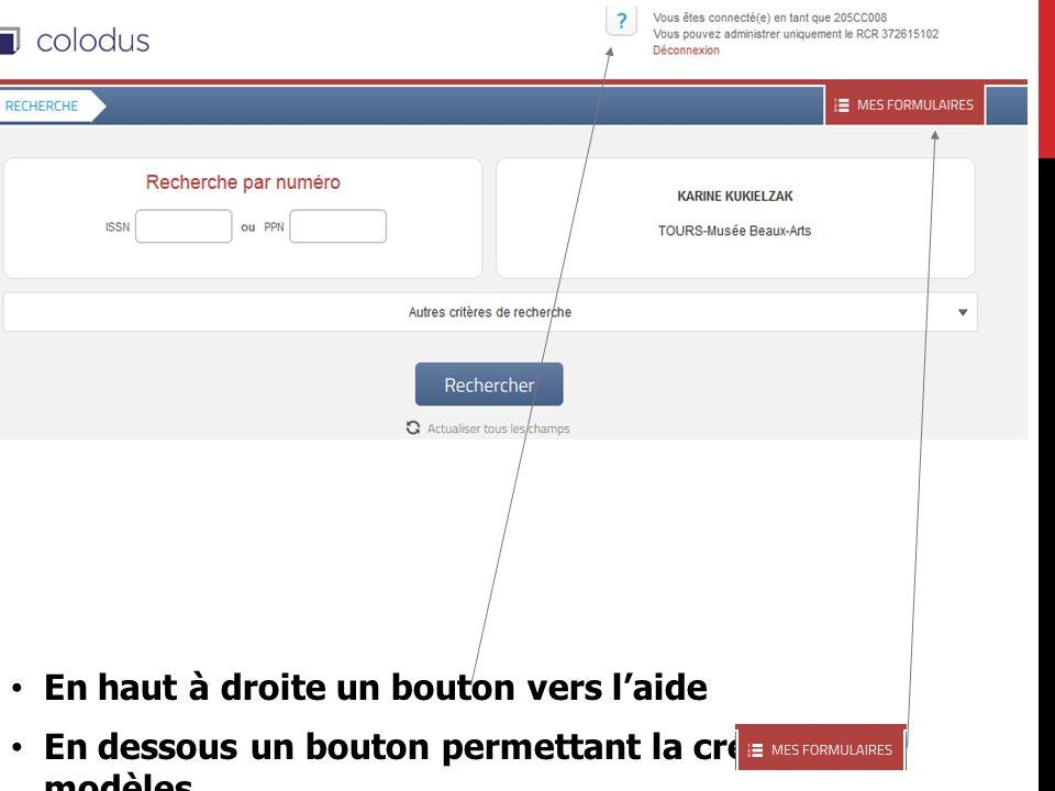 LE BLOC « ETAT DE COLLECTION »