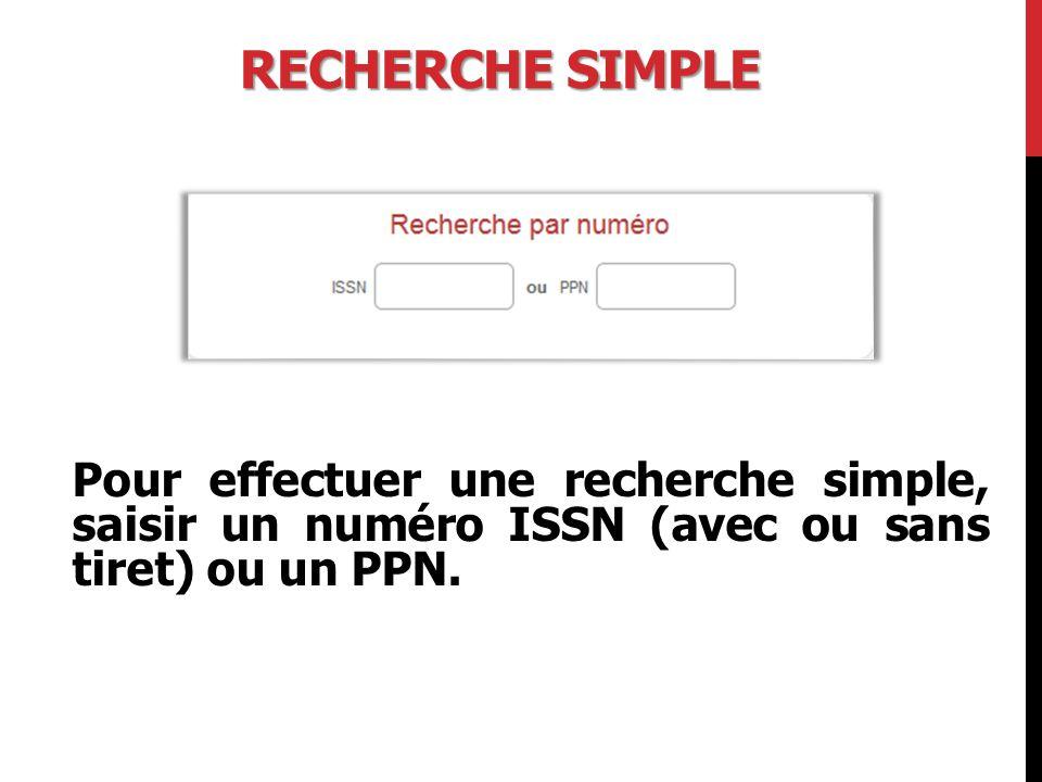 PROCÉDURE DE MODIFICATION « Détail notice » 1.