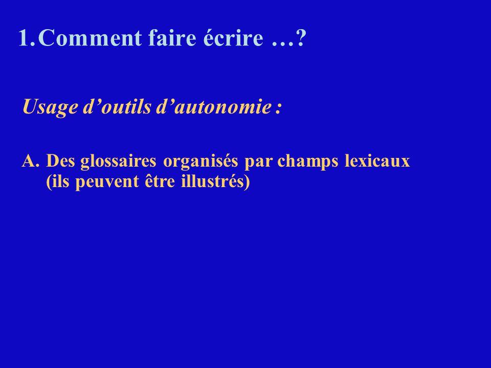 Gérer le phénomène de la fréquence : 70 mots = 50 % des mots de tout texte français 250 mots = 65 %