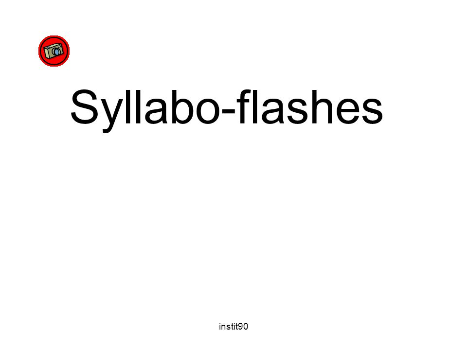 Syllabo-flashes