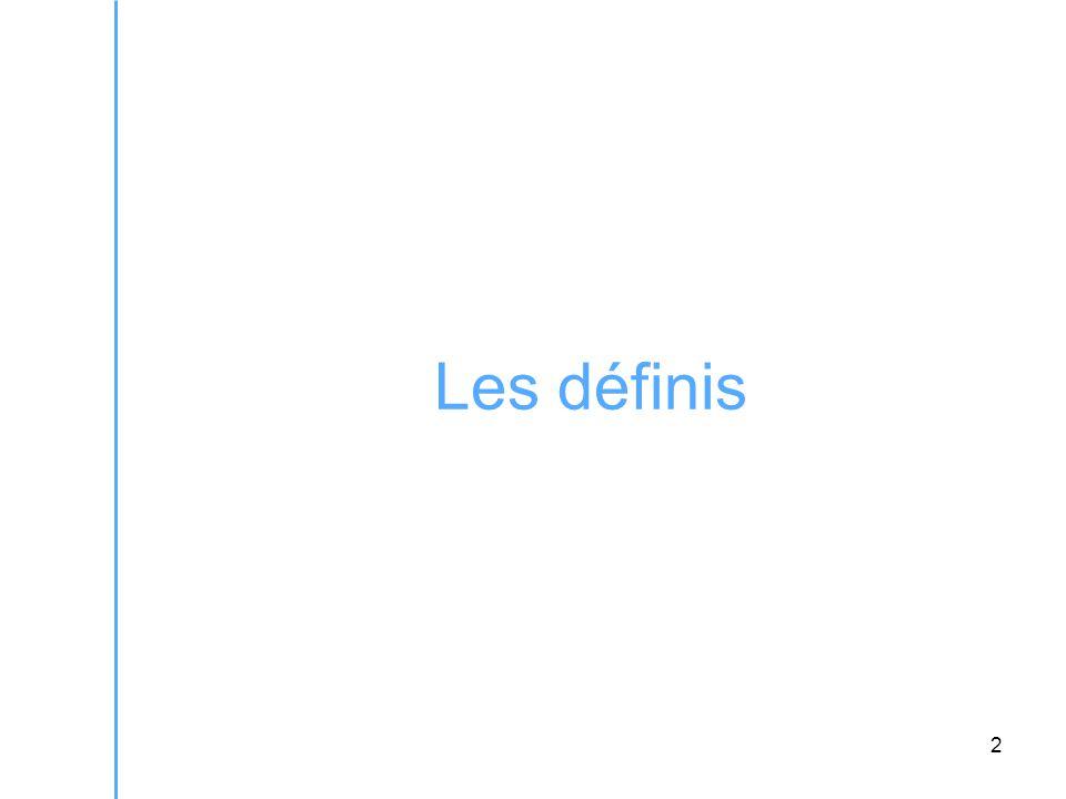 2 Les définis