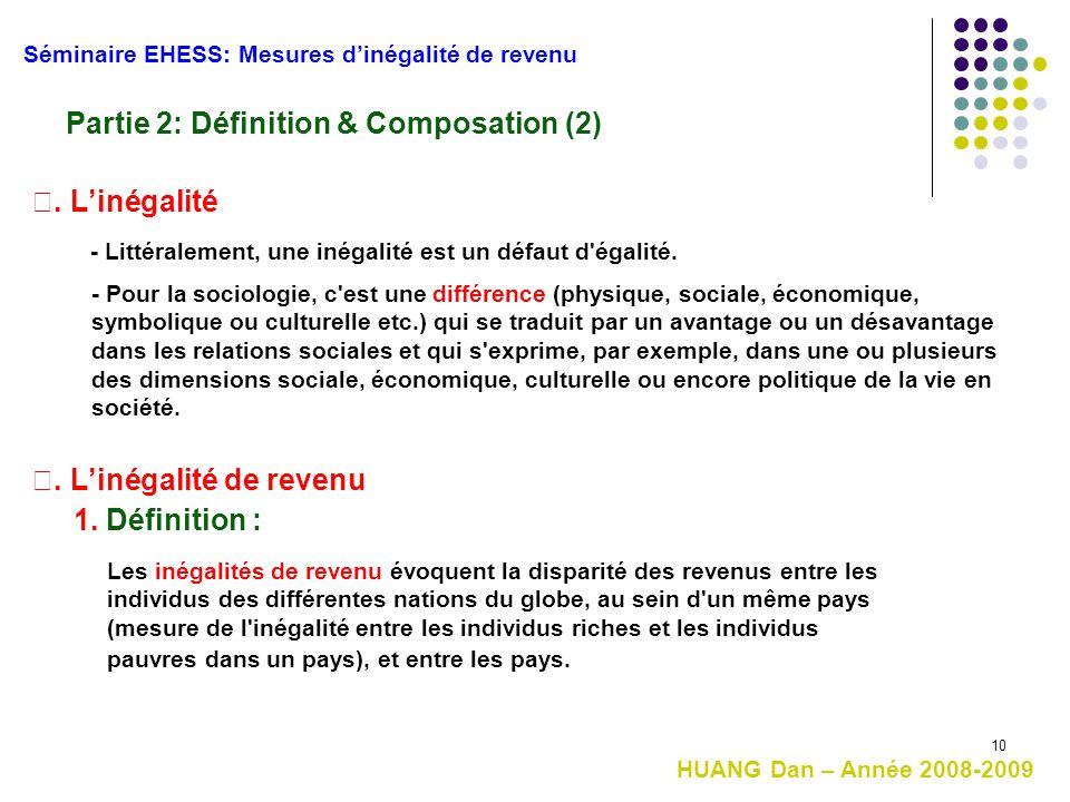 10 - Pour la sociologie, c'est une différence (physique, sociale, économique, symbolique ou culturelle etc.) qui se traduit par un avantage ou un désa