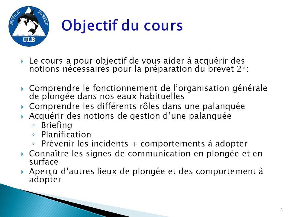  Le cours a pour objectif de vous aider à acquérir des notions nécessaires pour la préparation du brevet 2*:  Comprendre le fonctionnement de l'orga