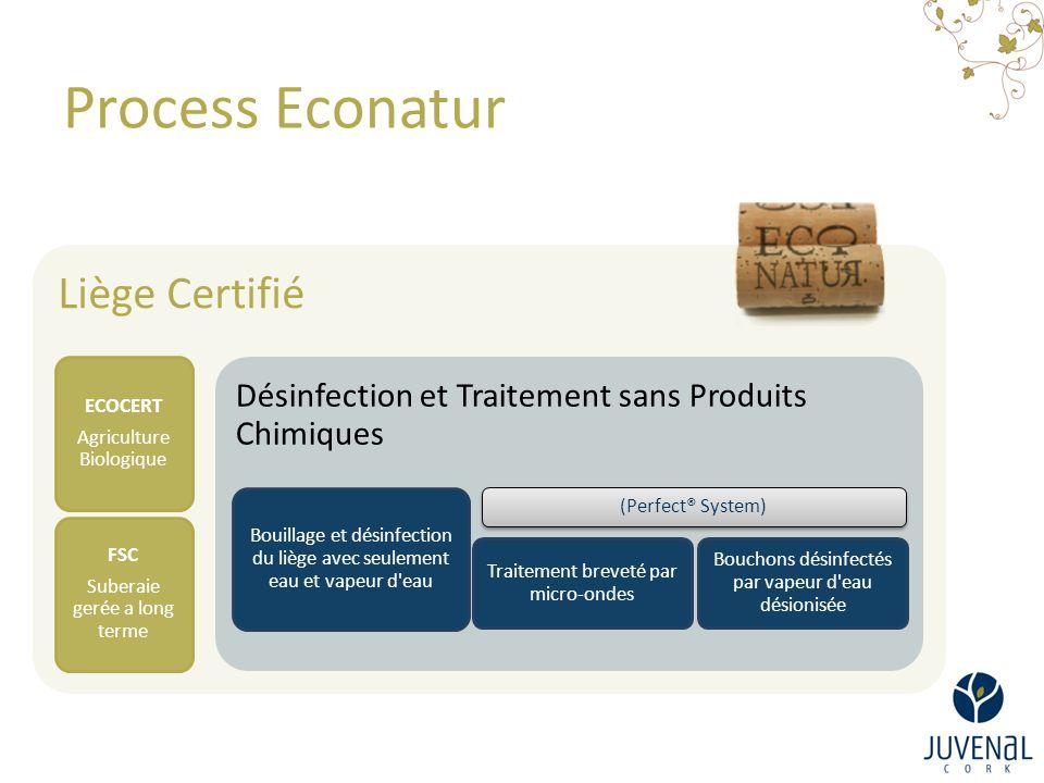 Process Econatur Liège Certifié ECOCERT Agriculture Biologique FSC Suberaie gerée a long terme Désinfection et Traitement sans Produits Chimiques Boui