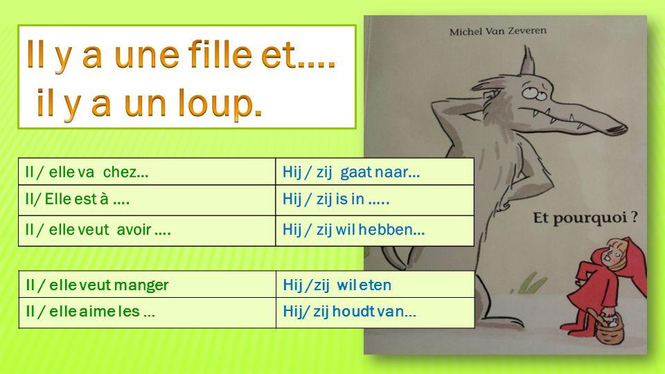 Il / elle veut mangerHij /zij wil eten Il / elle aime les …Hij/ zij houdt van…