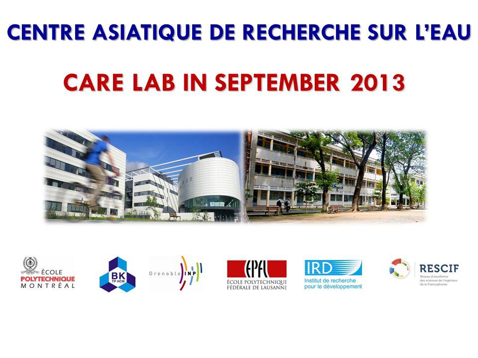 CENTRE ASIATIQUE DE RECHERCHE SUR L'EAU CARE LAB IN SEPTEMBER 2013