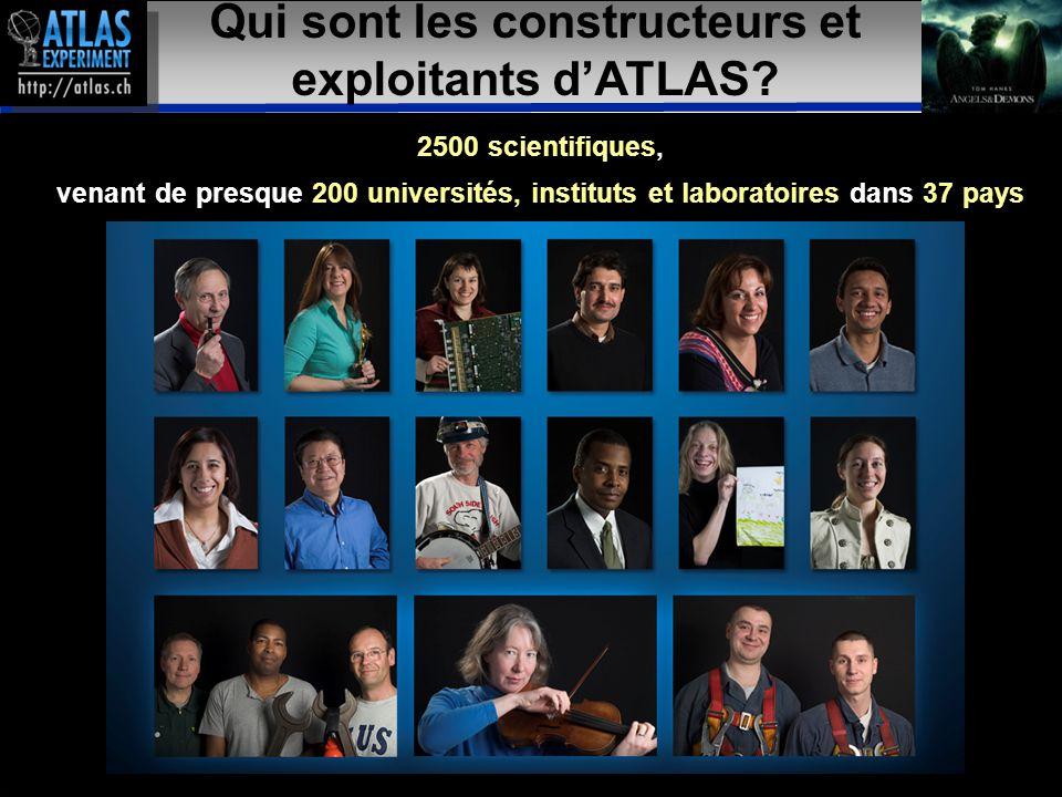 Présentateur – Mai 2009 39 19 Qui sont les constructeurs et exploitants d'ATLAS.