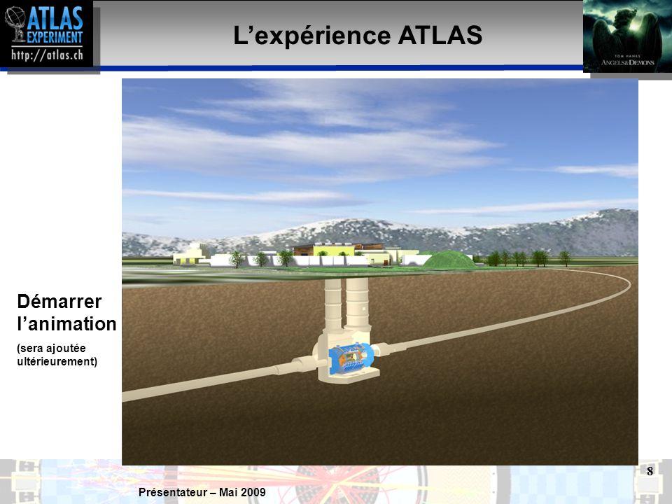 Présentateur – Mai 2009 9 Détecteur ATLAS Personnages à l'échelle du dessin .