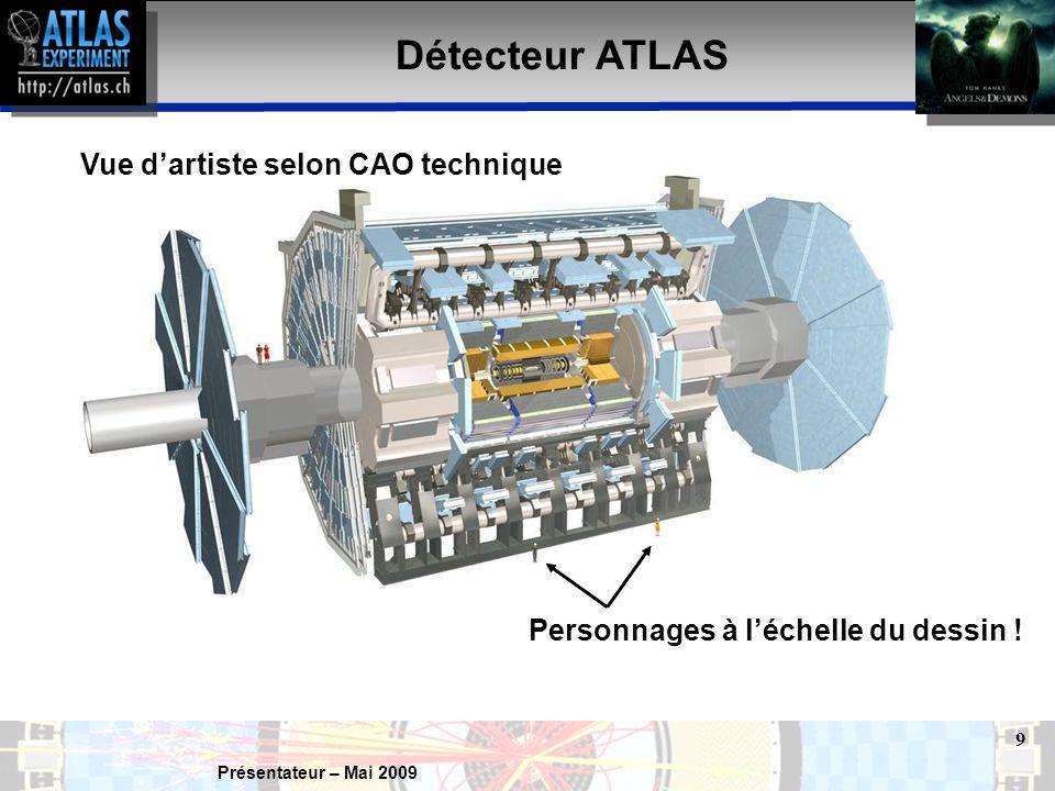 Présentateur – Mai 2009 10 Réaction antimatière–matière Il est également vrai que matière et antimatière sont annihilées lorsqu'elles entrent en contact.