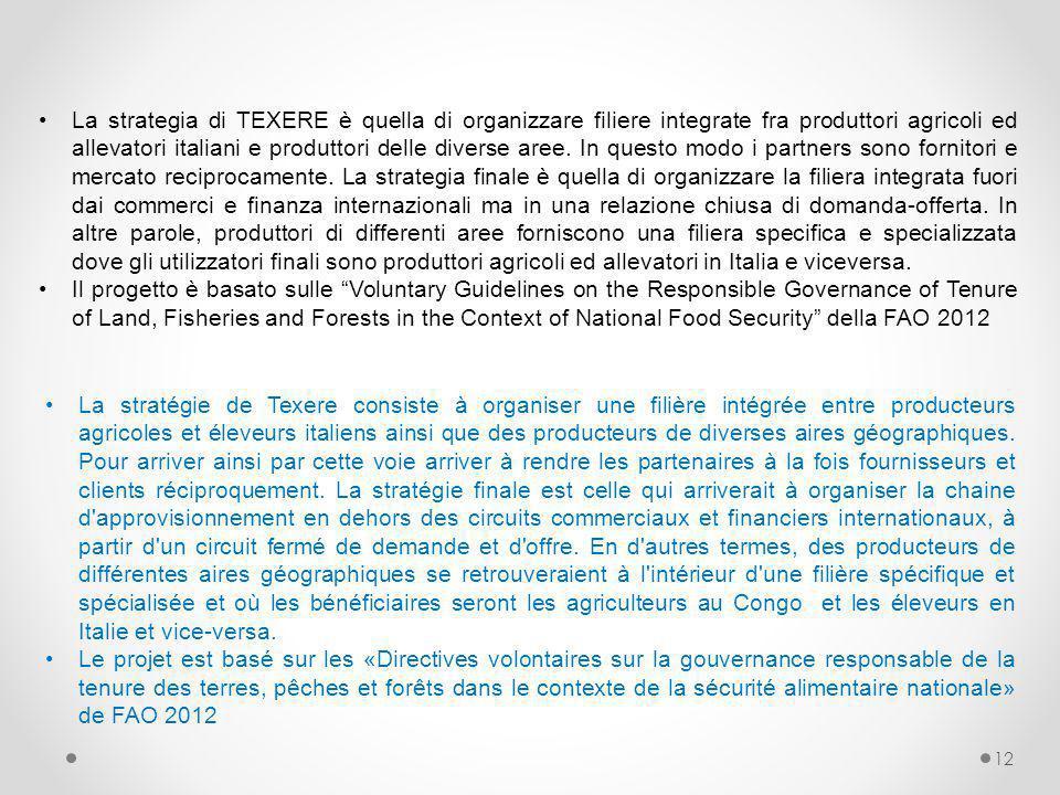 12 La stratégie de Texere consiste à organiser une filière intégrée entre producteurs agricoles et éleveurs italiens ainsi que des producteurs de dive