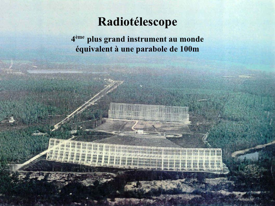 Radiotélescope 4 ème plus grand instrument au monde équivalent à une parabole de 100m